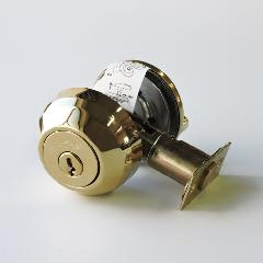 本締り錠(サムターン付)真鍮メッキ -限定品-