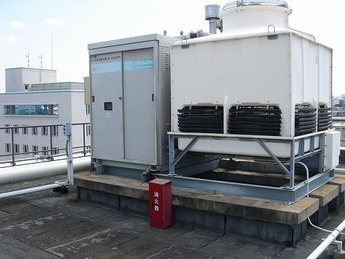 吸収式冷温水機からチラーへの入れ替え工事