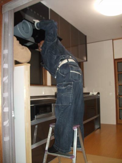 【キッチン】 施工中