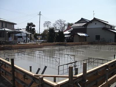ベース部分コンクリート打設完了