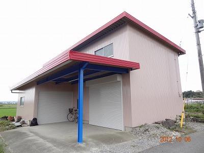 農業用倉庫 塗装リフォーム (東近江市M様邸)