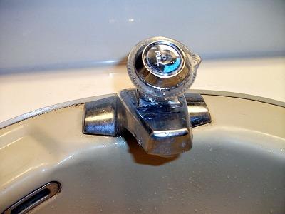 洗面所…カラン交換前