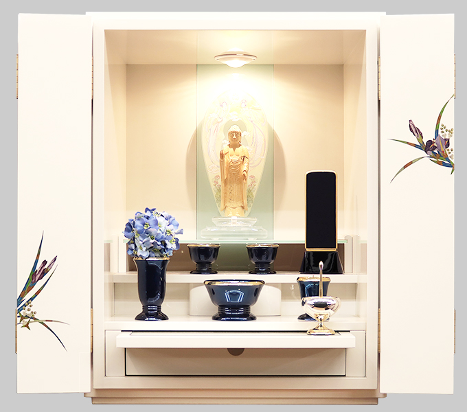 モダン仏壇「菖蒲」上置型画像1
