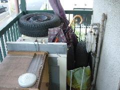 学生寮全体の不用品回収