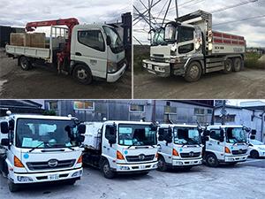 多種多様な収集運搬車