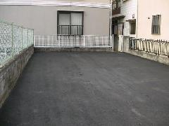 ガレージ舗装工事