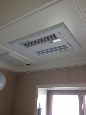 横須賀市佐島の丘 TOTOの天井埋め込み型浴室暖房新規取付工事