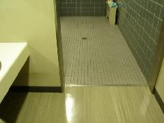 東京都 世田谷区 公共施設 床面洗浄 タイル&床