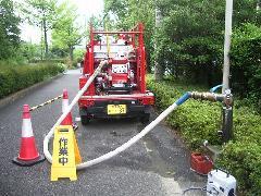 多摩市老人福祉施設 連結送水管耐圧試験