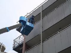 立川市 福祉センター 外壁清掃