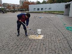 東京都 教育施設 インターロッキング洗浄
