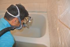 賃貸物件向け 浴槽洗浄塗替えコーティング(お風呂の塗装とクリアコート)�A