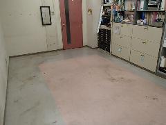 東京都 大学研究室 床面剥離洗浄ワックス添付作業