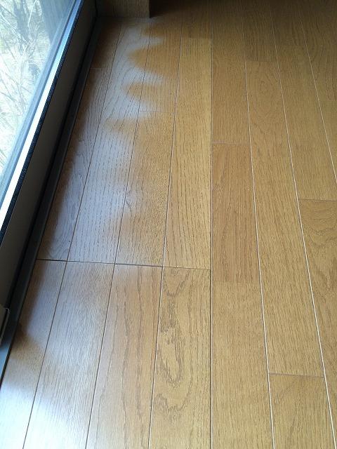 日焼けによる床の変色