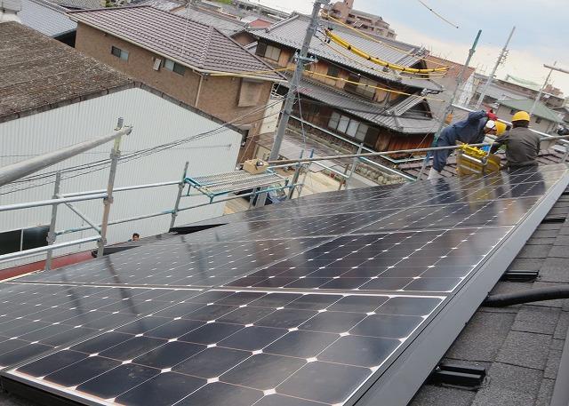 【岐阜市】太陽光発電 その・2 (パネル施工)