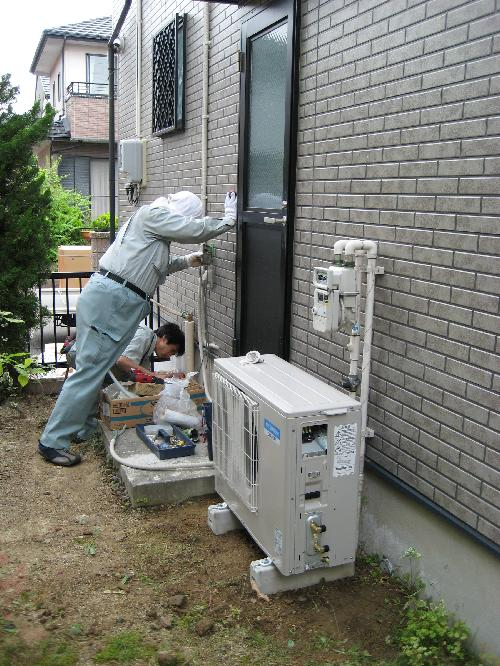 エコキュート 給湯配管工事