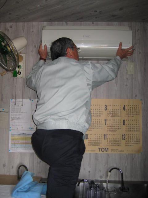 エアコン室内機取付