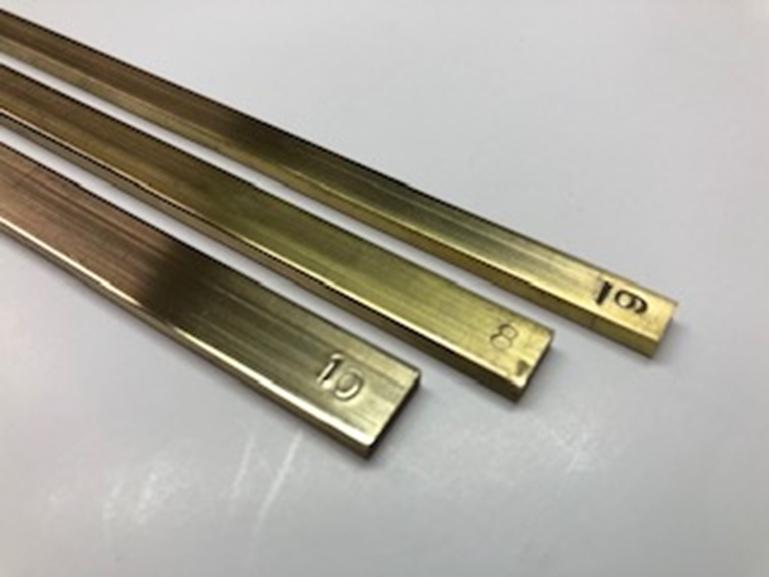 真鍮棒(ヘリ裁ち棒)幅6mm