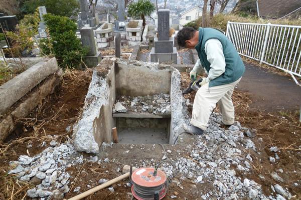 お墓の解体・移転