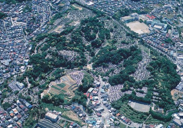 日野公園墓地空撮写真
