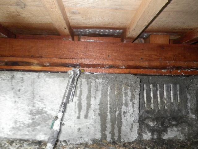 堺市中区築30年の床下土台薬剤処理