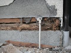 河内長野市 シロアリ対策 土台被害写真