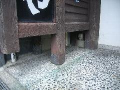 兵庫県西宮市駅の居酒屋店舗入り口でヤマトシロアリ羽アリ