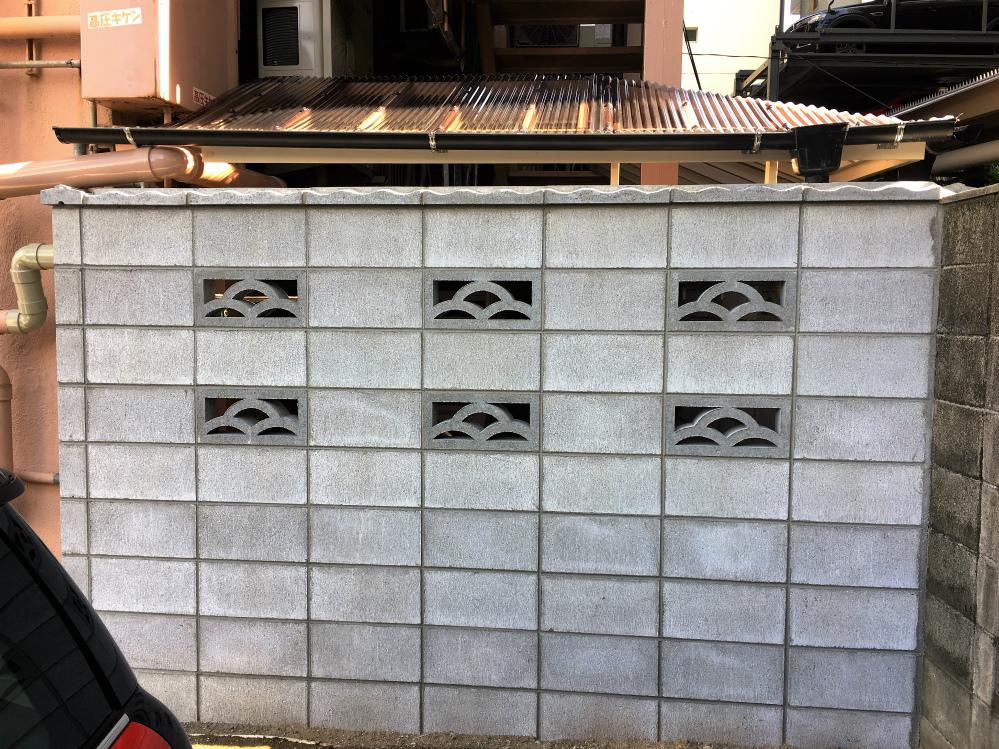 境界ブロック改修工事